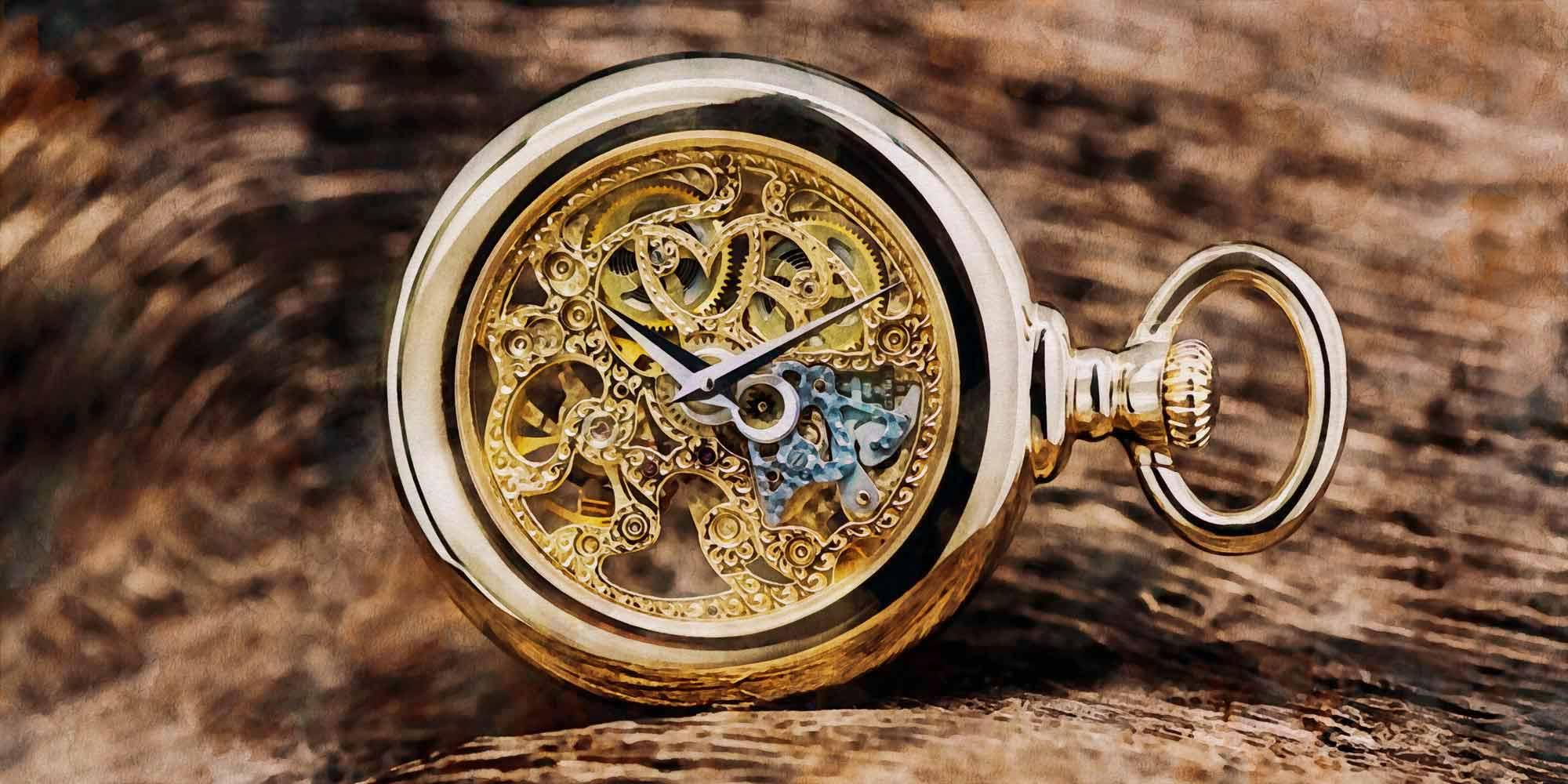 Favre Leuba Twinpower pocket watch